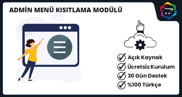 Opencart Admin Menü Kısıtlama Modülü