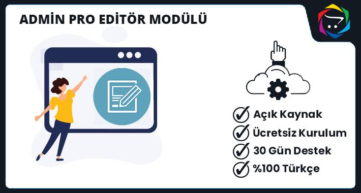 Opencart Admin Pro Editör Modülü