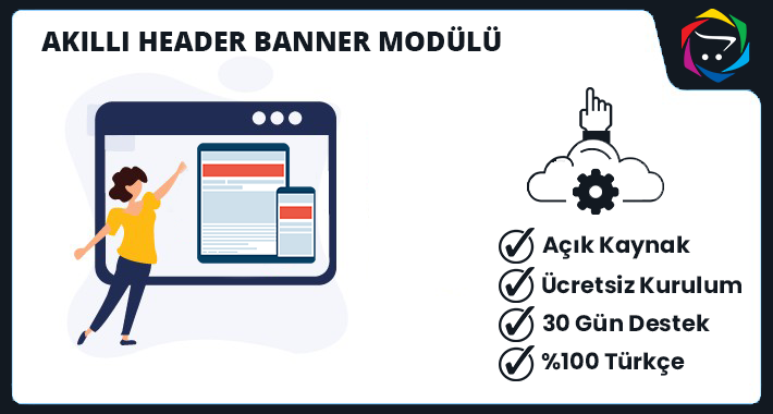 Opencart Akıllı Header Banner Modülü