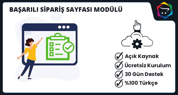Opencart  Başarılı  Sipariş Sayfası Modülü