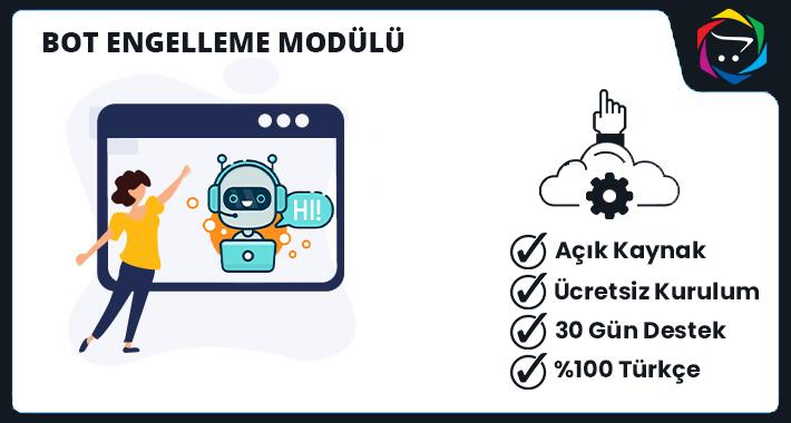 Opencart  Bot Engelleme Modülü