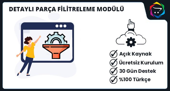 Opencart  Detaylı Parça Filitreleme Modülü