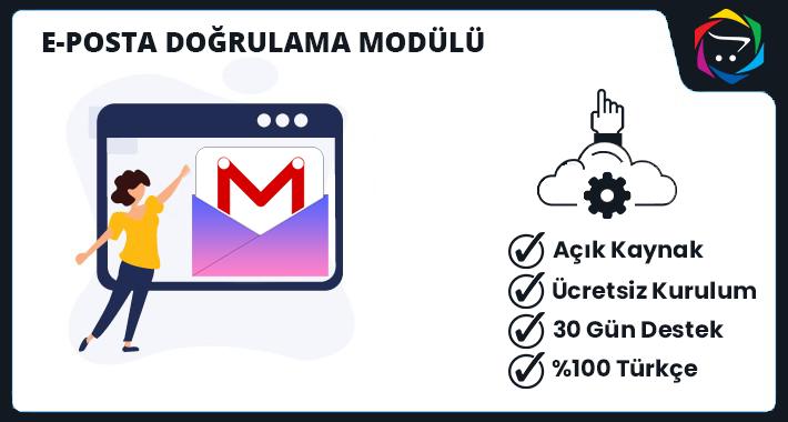 Opencart  E-Posta Doğrulama Modülü