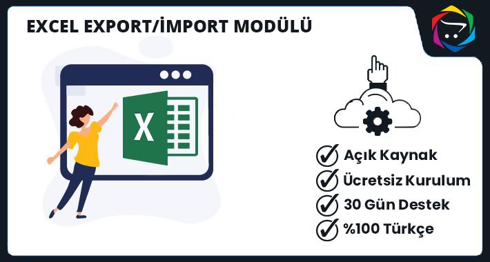 Opencart Excel Import & Export Modülü
