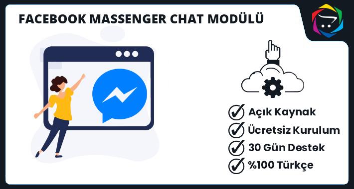 Opencart  Facebook Massenger Chat Modülü