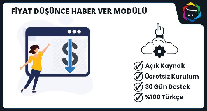Opencart Fiyat Düşünce Haber Ver Modülü