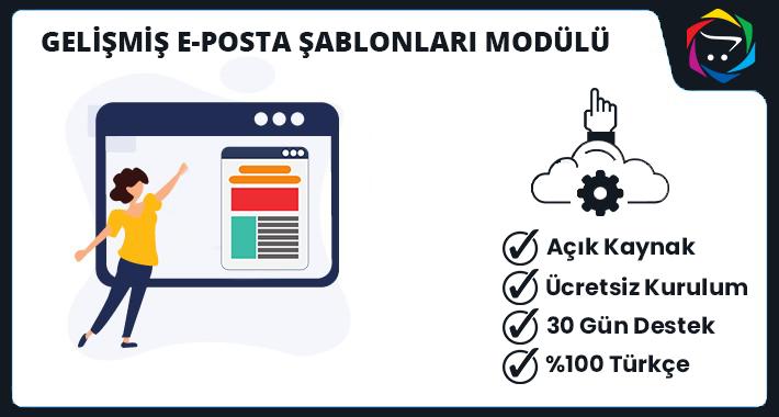 Opencart  Gelişmiş E-Posta Şablonları Modülü