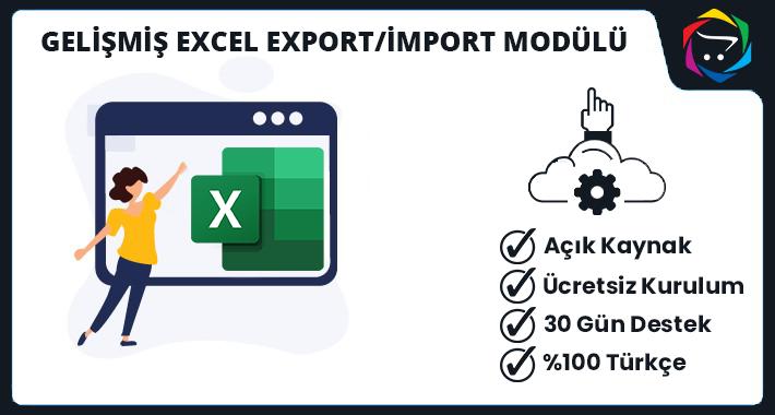 Opencart  Gelişmiş Excel Export/İmport Modülü