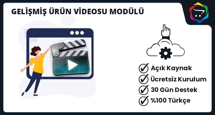 Opencart  Gelişmiş Ürün Videosu Modülü