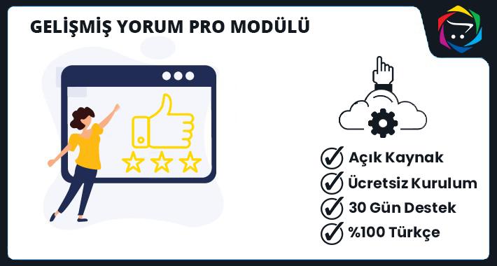 Opencart Gelişmiş Yorum Pro Modülü