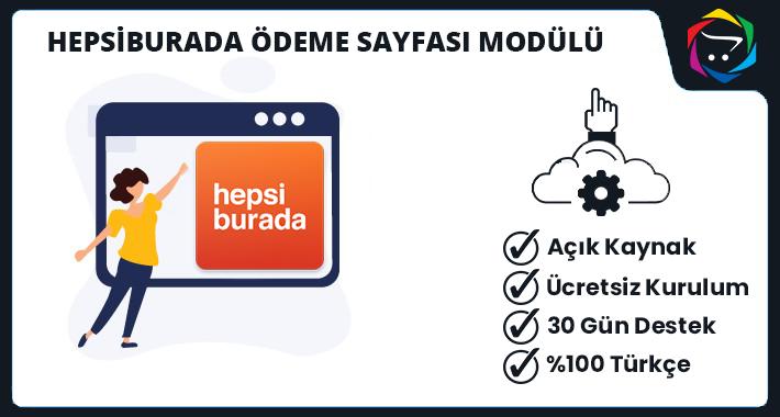 Opencart HepsiBurada Ödeme Sayfası Modülü