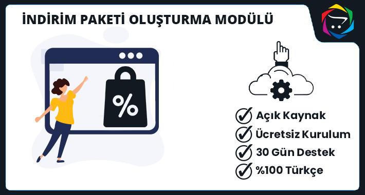 Opencart İndirim Paketi Oluşturma Modülü