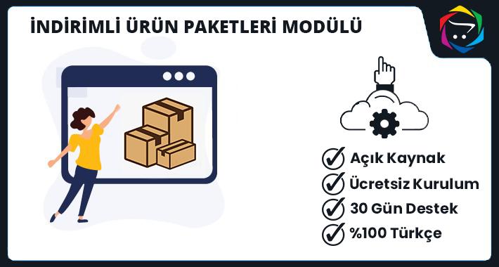 Opencart İndirimli Ürün Paketleri Modülü