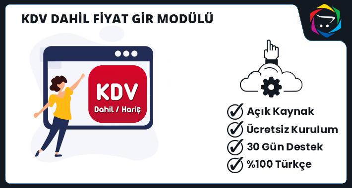 Opencart KDV Dahil Fiyat Gir (YENİ) Modülü