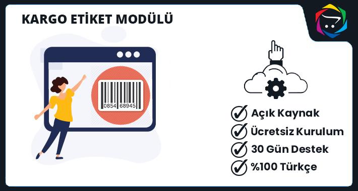 Opencart Kargo Etiket Modülü