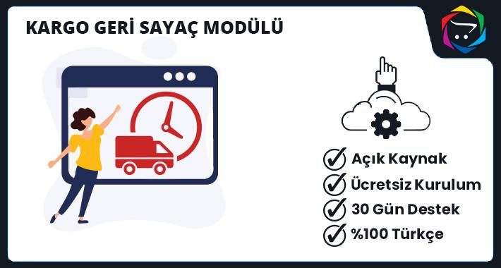 Opencart Kargo Geri Sayaç Modülü