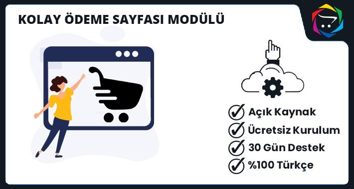 Opencart Kolay Ödeme Sayfası Modülü