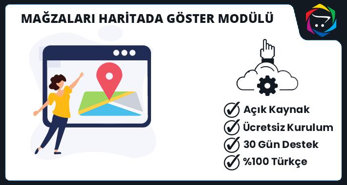 Opencart Mağzaları Haritada Göster Modülü