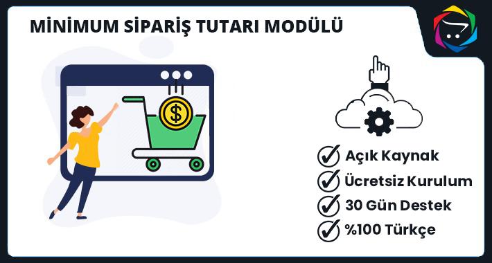 Opencart Minimum Sipariş Tutarı Modülü