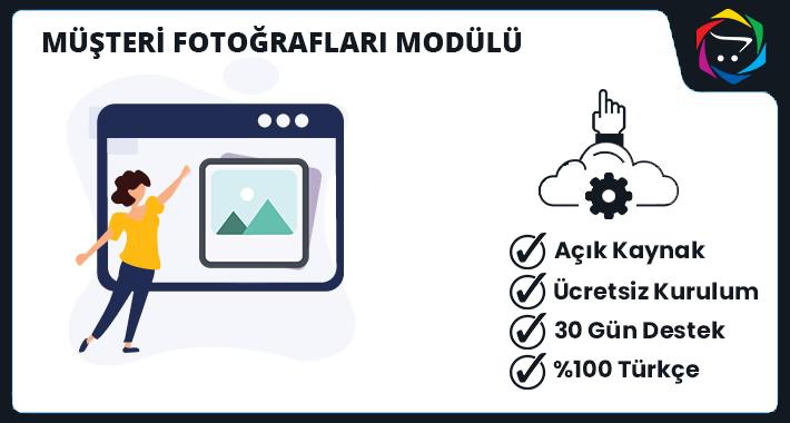 Opencart  Müşteri Fotoğrafları Modülü