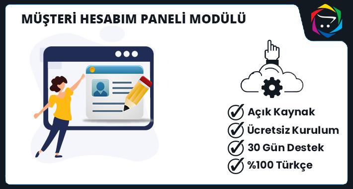 Opencart Müşteri Hesabım Paneli Modülü