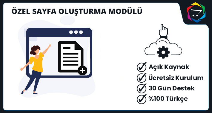 Opencart  Özel Sayfa Oluşturma Modülü