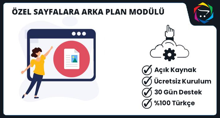 Opencart  Özel Sayfalara Arka Plan Modülü