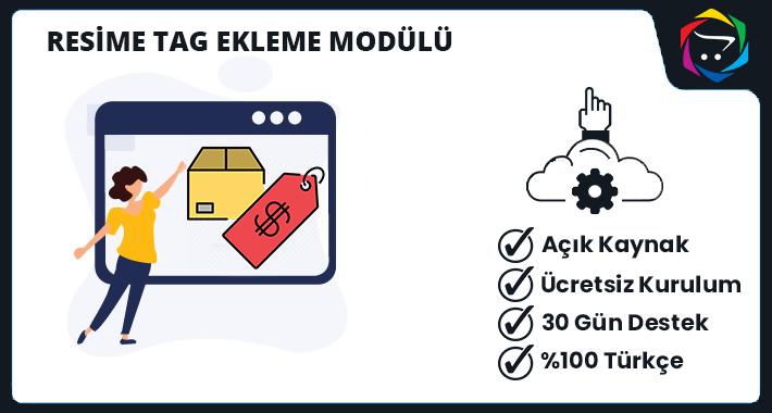 Opencart Resime Ürün Tag Ekleme Modülü