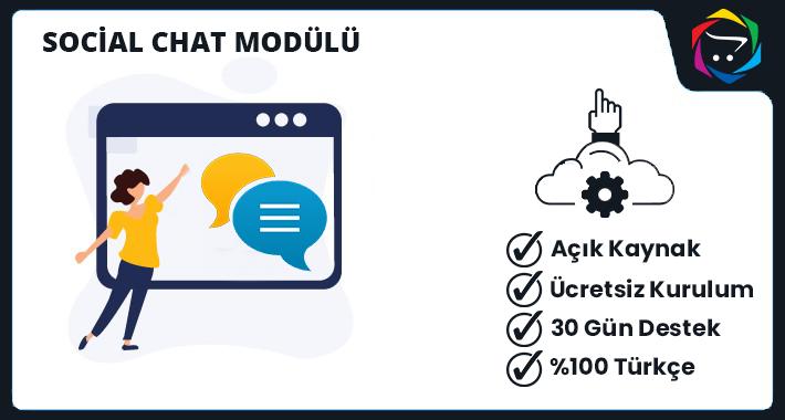 Opencart  Social Chat Modülü
