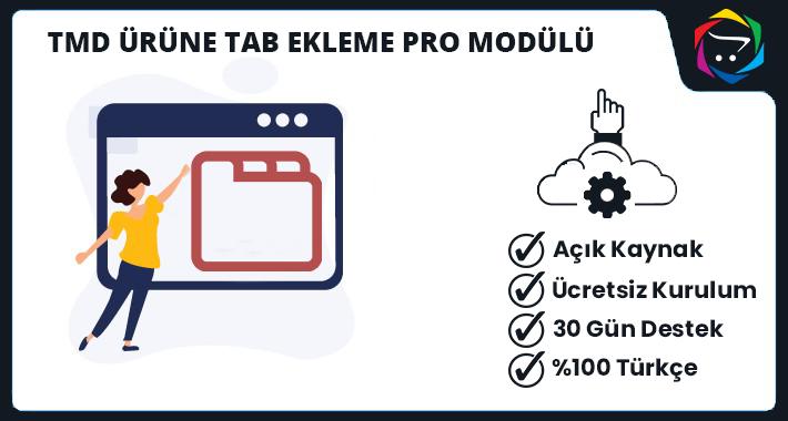 Opencart Ürüne Tab Ekleme Pro Modülü