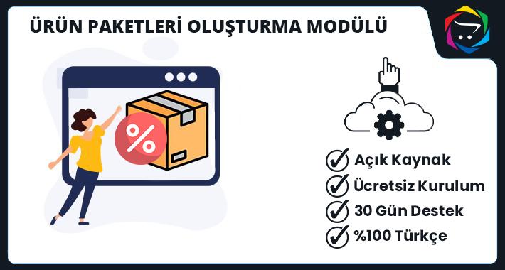 Opencart Ürün Paketleri Oluşturma Modülü